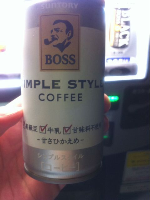 BOSS SIMPLE STYLE COFFEEを飲んだ
